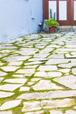 Simple old stone street. In Cyprus village Royalty Free Stock Photos