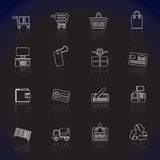 Simple Online Shop icons Royalty Free Stock Photo