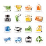 Simple Online Shop icons Stock Images
