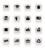 Simple Online Shop icons. Vector Icon Set Royalty Free Stock Image