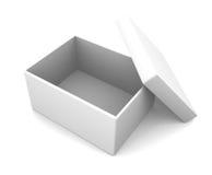 Simple open box. On white Stock Photos