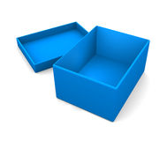 Simple open box. On white Stock Images
