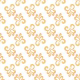 Simple Baroque seamless pattern stock image