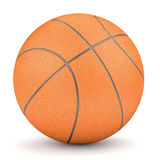 Simple orange basketball isolated on white Royalty Free Stock Image
