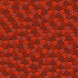 Simple orange doodle pattern. Hand drawn seamless background. Royalty Free Stock Photos