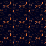 Simple orange halloween background Royalty Free Stock Photography