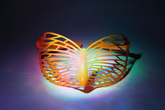 Simple orange mask butterfly Royalty Free Stock Image