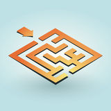 Simple orange maze Stock Photography