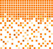 Simple orange mosaic background. Vector mosaic background in orange color Royalty Free Stock Photos