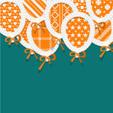 Simple Orange Paper Balloons with Pattern Fill Stock Photos