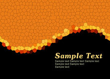 Simple orange template Royalty Free Stock Photo
