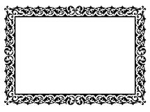 Simple ornamental decorative frame Royalty Free Stock Photography