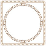 Simple ornamental frames. Element for graphic desi. Simple vector ornamental frames. Element for graphic design Stock Photography
