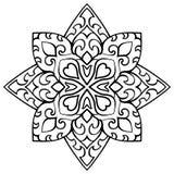 Simple ornamental mandala. Stock Image