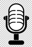 Simple Outline, Classic Microphone Stock Image