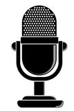 Simple Outline, Classic Microphone Stock Images