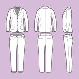 Simple outline drawing of a blazer and pants Royalty Free Stock Photo