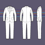 Simple outline drawing of a men's suit Royalty Free Stock Photos