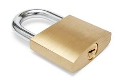 Simple Padlock Stock Photo