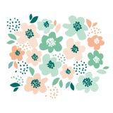 Simple pale color floral decorative design Royalty Free Stock Photos