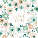 Simple pale color floral decorative design Stock Photo