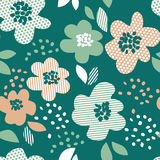 Simple pale color floral decorative seamless pattern Stock Photography