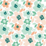 Simple pale color floral decorative seamless pattern Royalty Free Stock Photography