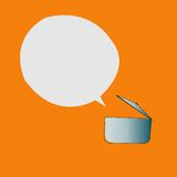 Simple pan and speech bubble. Vector design Stock Images
