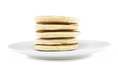 Simple pancake stack Royalty Free Stock Photography