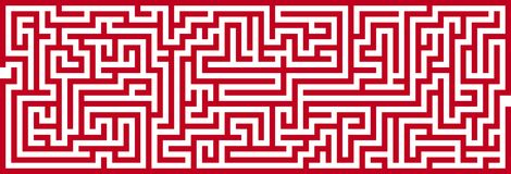 Simple Maze Cutout Stock Images