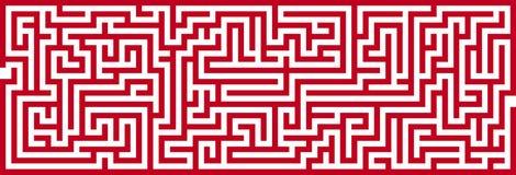 Simple Maze Cutout royalty free illustration