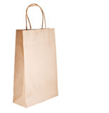 Paper bag on white background Stock Image