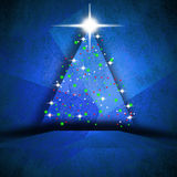 Simple paper Christmas tree Royalty Free Stock Images