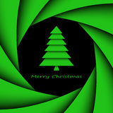 Simple paper christmas tree Stock Images