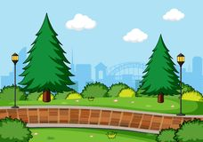 A simple park landscape royalty free stock photography