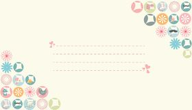 Simple pastel color spring card with hearts Stock Images