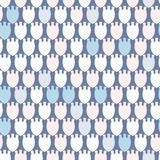 Simple pastel floral pattern for cute childish textile or scrapbooking background. Simple pastel floral pattern for cute childish and female textile or Stock Image