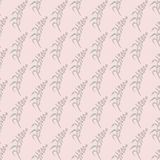 Simple pastel floral pattern. Delicate pink with Ivan Chai flowers Stock Image
