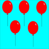 Pattern ballons background. A simple pattern of ballons aligned. Good for backgrounds Royalty Free Stock Photography