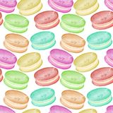 Simple pattern of colorful macarons on a transparent background. vector illustration