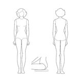 Simple pattern girls: front and rear Stock Image