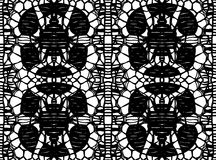 Simple pattern lace. Vector illustration Stock Photos