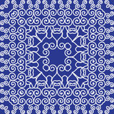 Simple pattern ornament Kaleidoscope by Chinese motifs. Royalty Free Stock Photography