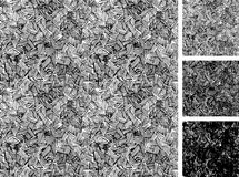 Simple pattern of rough hatching grunge texture. Stock Photography