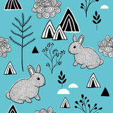 Simple pattern in scandinavian style. Royalty Free Stock Photos