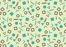 Simple pattern in the style of the eighties. Stock Photography