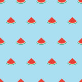 Simple pattern with watermelon slices Royalty Free Stock Image