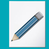 Simple pencil. Back to school, simple pencil Stock Image