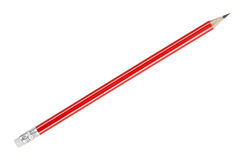 Simple pencil with an eraser on the end Royalty Free Stock Photo