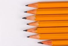 Simple pencils, a blank sheet Stock Photos